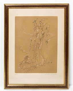* Andre Masson, (French, 1896-1987), Two Figures