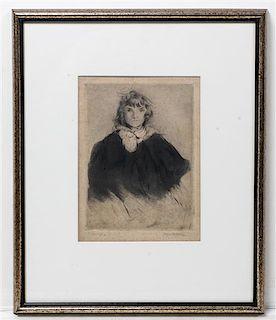 * Jacques Villon, (French, 1875-1963), La Petite Ecoliere, 1904