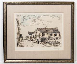 * Maurice de Vlaminck, (French, 1876–1958), Visage des Maisons, 1927