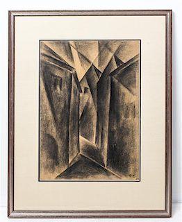* Hans Haffenrichter, (German, 1897-1981), Alte Gasse in Wurzburg, 1923