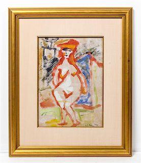 * Mino Maccari, (Italian, 1898-1989), Untitled (Woman)