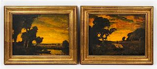 Artist Unknown, (20th century), Sunsets (two works)