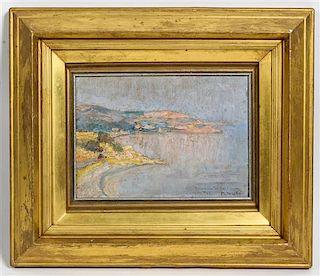 * M. de Loris, (20th century), Island Coastal Scene