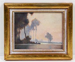 * G. Fox, (20th century), Coastal Scene with Palm Trees