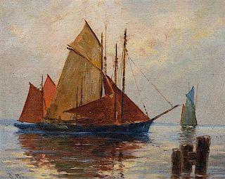 * G. Fox, (20th century), Sailboat Scene