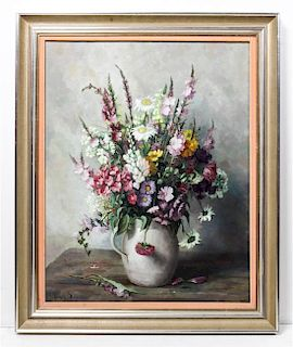 Henk Bos, (Dutch, 1901-1979), Still Life with Flowers