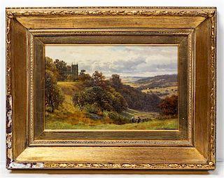 Henry Cheadle, (British, 1852-1910), Landscape Scene, 1906