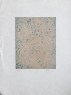 * Mark Tobey, (American, 1890-1976), Of Time and Age, 1975