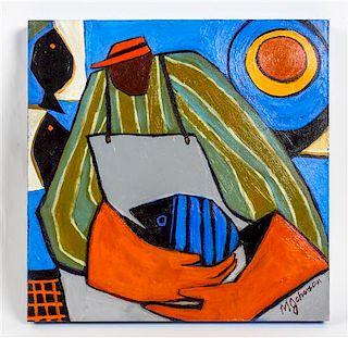 Mandy Johnson, (American, b. 1952), Fish Vendor