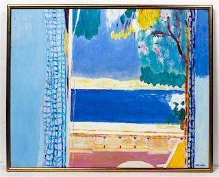 Roberto Ortuno, (Spanish, b. 1953), Landscape Beyond a Window