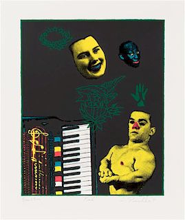 Ed Paschke, (American, 1939-2004), Bad, 1991 (together with text and cover page)