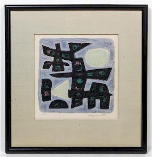* Alfred Manessier, (French, 1911-1993), Abstract Composition
