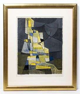 * Gustave Singier, (French, 1909-1984), Cubist Figure, 1958