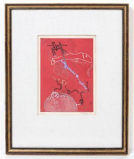 * Artist Unknown, (20th century), Untitled Abstract