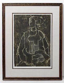 * Artist Unknown, (20th century), Abstract Figure