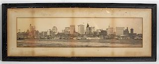 George P. Hall, (American, 1832-1900), Panorama of Lower Manhattan from the East River