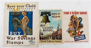 * A Group of Seven American WWI and WWII Posters Largest 40 x 28 inches.