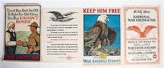 * A Group of Seven American WWI Posters Largest 30 x 40 inches.