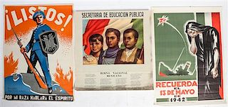 * A Group of Three Mexican Posters Largest 37 1/2 x 27 1/4 inches.
