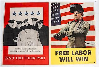 * A Group of Four American WWII Posters Largest 41 x 28 1/2 inches.