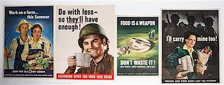 * A Group of Four American WWII Posters Largest 28 x 22 inches.