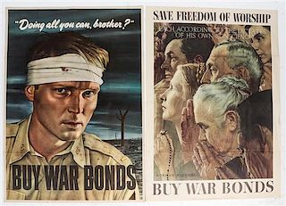 * A Group of Four American War Bonds Posters Largest 40 x 28 1/2 inches.