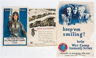 * A Group of Eight WWI and WWII Posters Largest 34 3/4 x 56 inches.