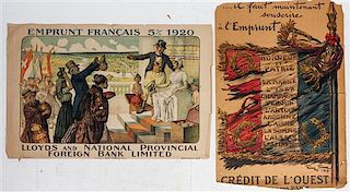 * A Group of Four French WWI Posters Largest 47 1/8 x 31 1/2 inches.
