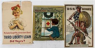 * A Group of Eight American WWI Posters Largest 39 7/8 x 29 7/8 inches.