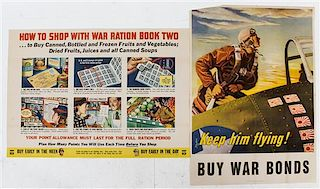* A Group of Eight American WWII Posters Largest 40 1/4 x 28 1/4 inches.