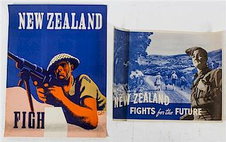 * A Group of Four WWII Posters Largest 32 x 24 inches.