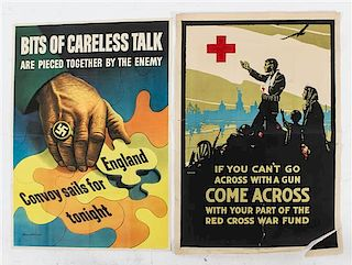 * A Group of Five WWII Posters Largest 41 x 28 inches.