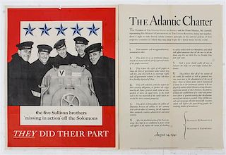 * A Group of Four WWII Posters Largest 31 7/8 x 24 inches.