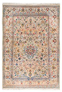 * An Isfahan Wool Rug 7 feet 2 inches x 5 feet.