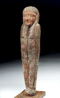 Tall Egyptian Wood Ptah Sokar Osiris, ex-Bonhams