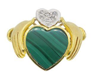Claddagh and Diamond Ring