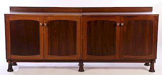 ITALIAN ROSEWOOD SIDEBOARD 3 SECTIONS 1960