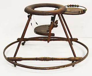 early 20th hoop & saddle seat child tender