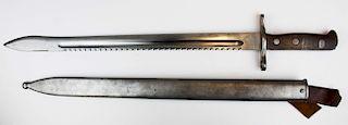 WWI Swiss sawback bayonet