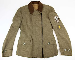 WWII German Woman's RAD tunic with medic patch