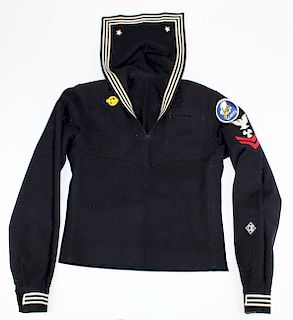 WWII US Navy Seabees blue wool tunic