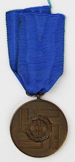 WWII German SS long service medal