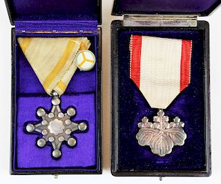 two Japanese medals in original cases