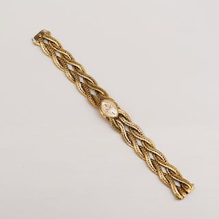 Juvenia Braided 18k Gold Ladies Wristwatch