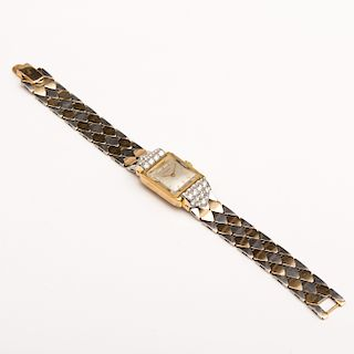 Juvenia 14k Yellow and White Gold Diamond Ladies Wristwatch