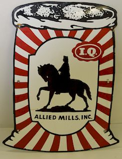 Allied Mills Inc. IQ Advertising sign