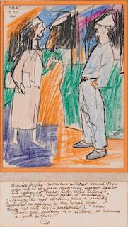 CARL SPRINCHORN, (American, 1887-1971), Marsden Hartley