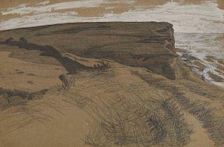 LYONEL FEININGER, (American/German, 1871-1956), Untitled (Cliff)