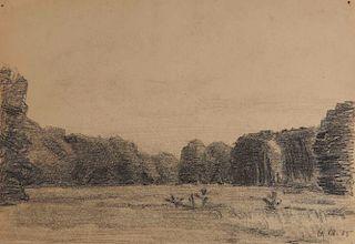 LYONEL FEININGER, (American/German, 1871-1956), (Landscape)