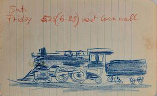 LYONEL FEININGER, (American/German, 1871-1956), (Locomotive)